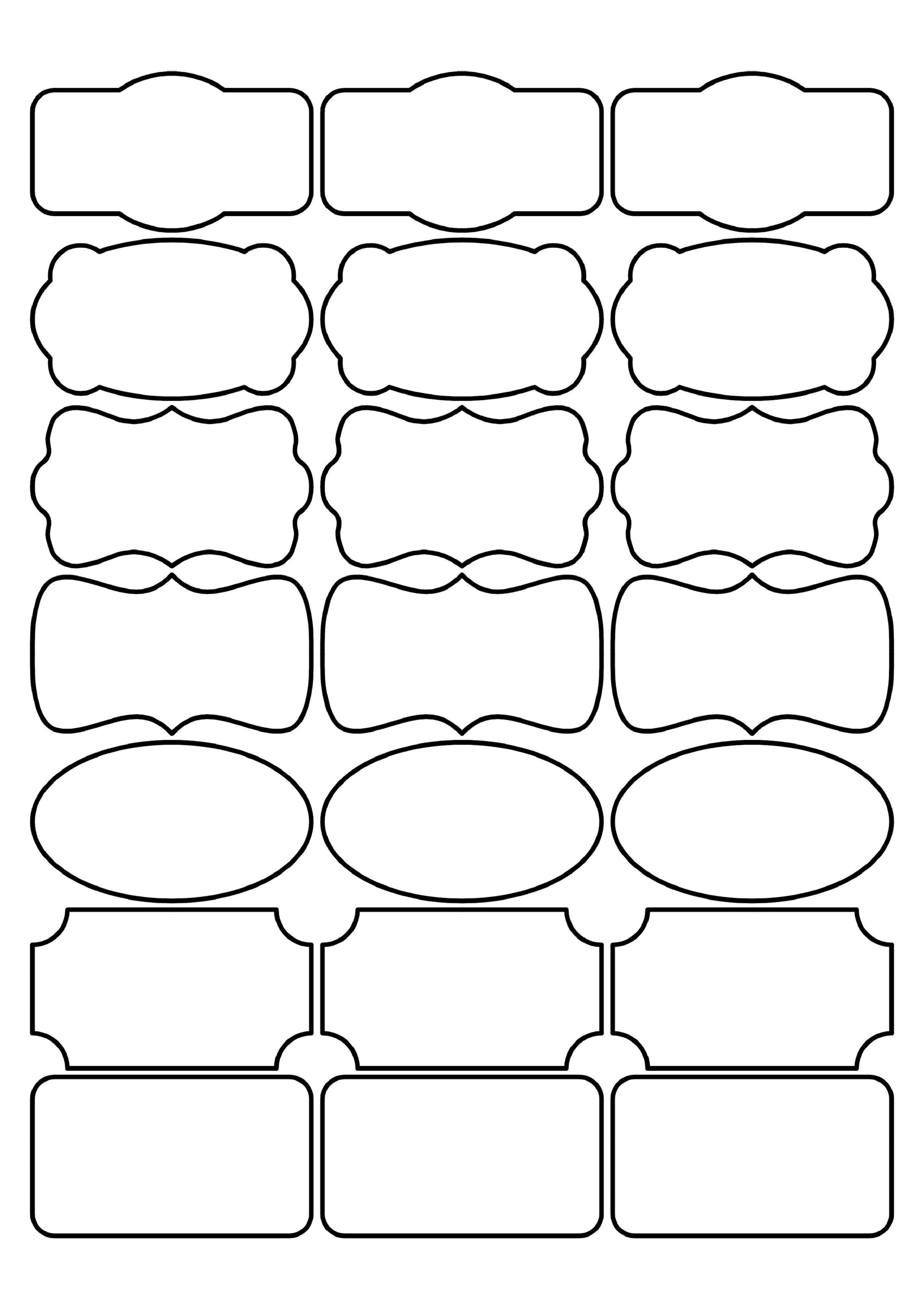 Images of Label Shapes Template - #rock-cafe