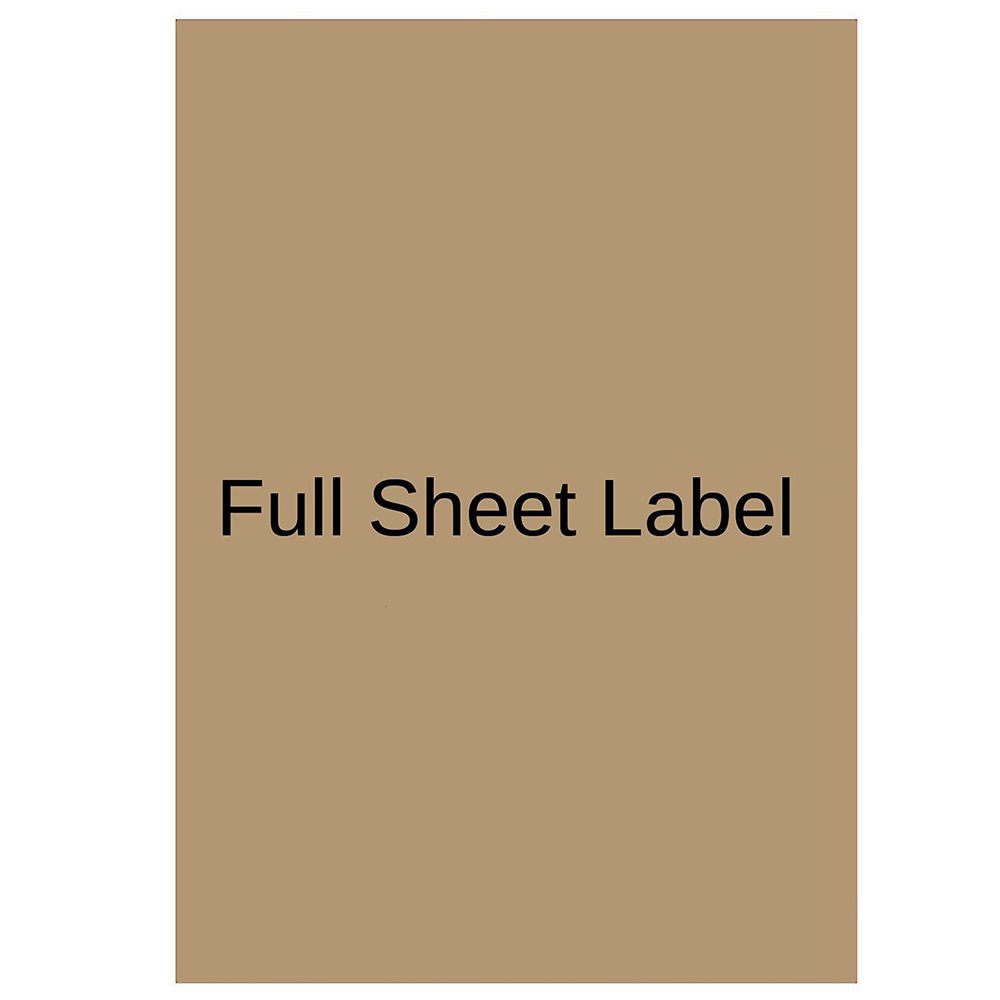 Mr-Label Full Letter Sheet Extra Large Size Kraft Labels –Self Adhesive  Stickers for Gift Decoration|Hand Craft| Finishing Touch