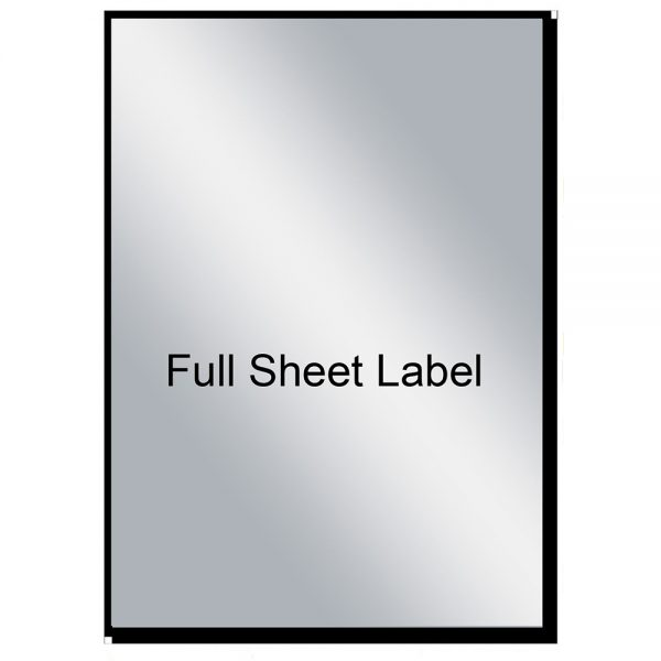 Mr-Label Extra Large Full A4 Sheet Matte Silver Label Adhesive Labels –  Scratchproof Waterproof Stickers for Company Information   Wine Bottle -  Laser