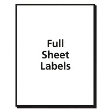 Full Sheet Labels
