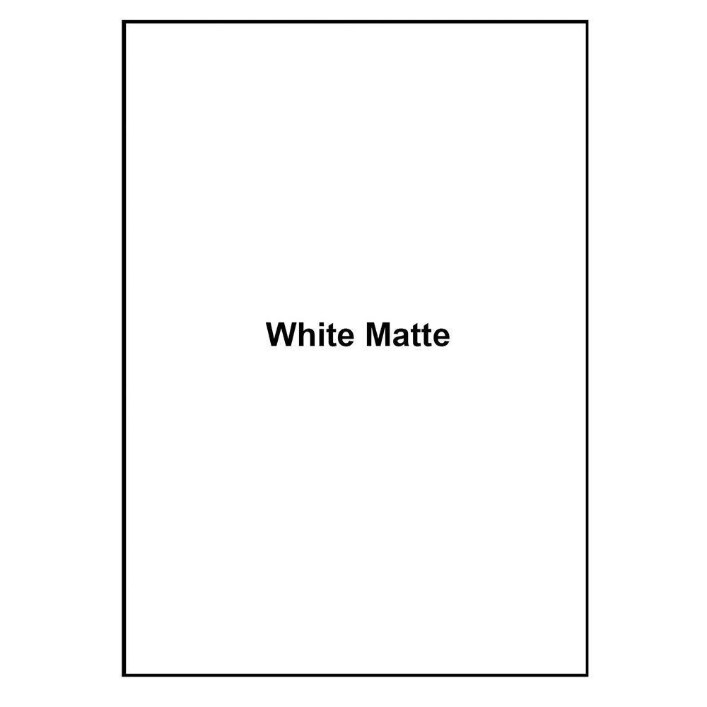 Mr-Label White Matte Waterproof Vinyl Sticker Paper - Full US Letter Sheet  Label - Inkjet/Laser Compatible - for Home Business
