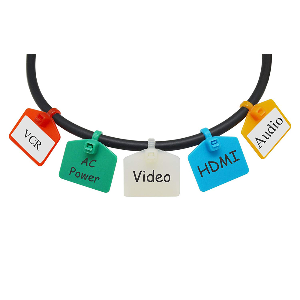 graphic regarding Printable Wire Labels identify Mr-Label 4-3/8\u201d(111mm) Nylon Cable Zip Ties Tags Labels Marker Produce upon  Self-Locking with Cost-free Printable Labels - for Cord Marking and