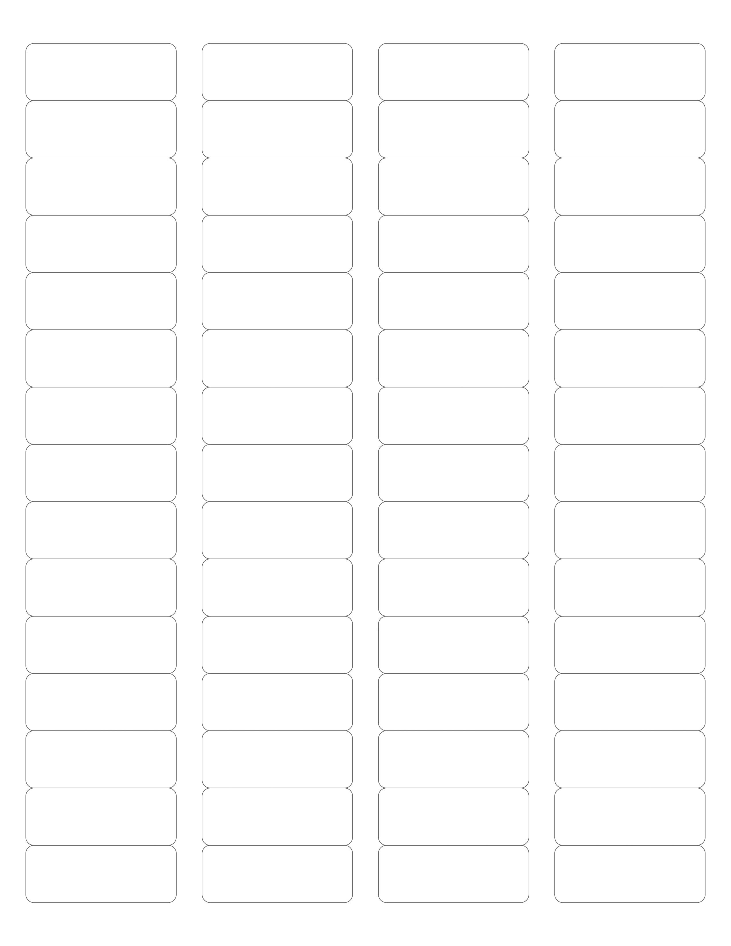 MR22121 – 221/221″ x 21-221/21″ – US Letter Sheet – 21 Rectangle Labels – MR Pertaining To Free Label Templates For Word