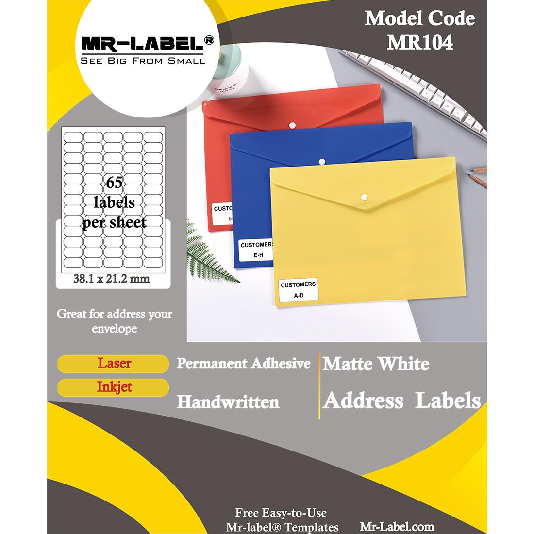 Blank Return Address Labels Template from mr-label.com